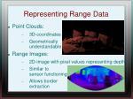 representing range data