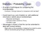 statistics probability logic