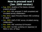 how to proceed next jan 2009 version