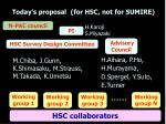 today s proposal for hsc not for sumire