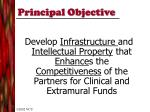 principal objective