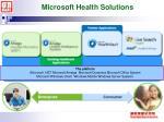 microsoft health solutions