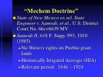 mechem doctrine