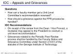 ioc appeals and grievances