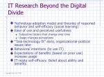 it research beyond the digital divide