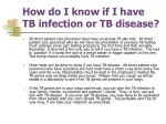 how do i know if i have tb infection or tb disease