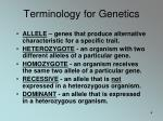 terminology for genetics1