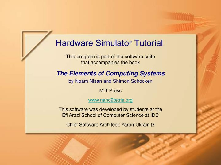 hardware simulator tutorial n.