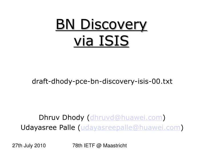 draft dhody pce bn discovery isis 00 txt n.