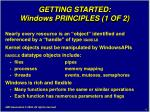 getting started windows principles 1 of 2