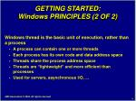 getting started windows principles 2 of 2