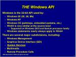 the windows api