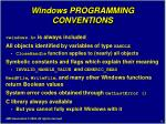windows programming conventions