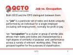job vs occupation
