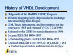 history of vhdl development