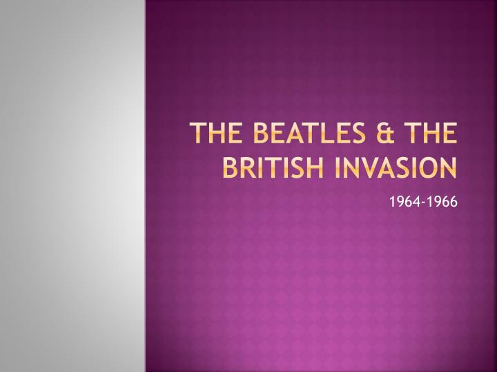 the beatles the british invasion n.
