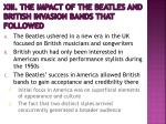 xiii the impact of the beatles and british invasion bands that followed