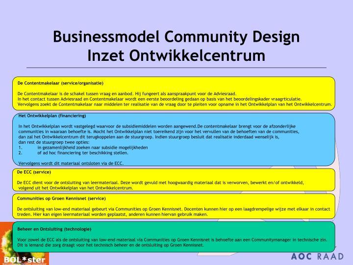Businessmodel Community Design