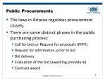 public procurements