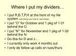where i put my dividers