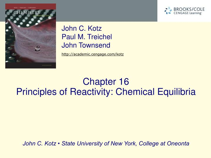 chapter 16 principles of reactivity chemical equilibria n.