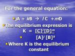 for the general equation