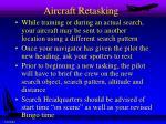 aircraft retasking