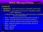 nocl message format1