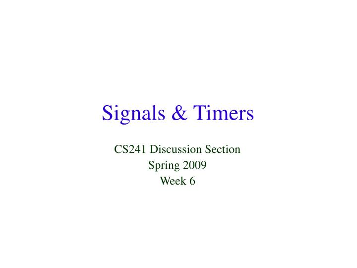 signals timers n.