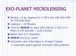 exo planet microlensing