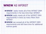 wnew as wfirst