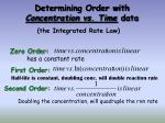 determining order with concentration vs time data