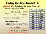 finding the rate constant k