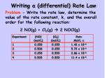 writing a differential rate law