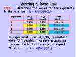 writing a rate law1