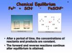 chemical equilibrium fe 3 scn fescn 21
