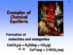 examples of chemical equilibria1