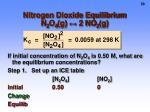 nitrogen dioxide equilibrium n 2 o 4 g 2 no 2 g1