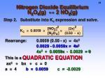 nitrogen dioxide equilibrium n 2 o 4 g 2 no 2 g3