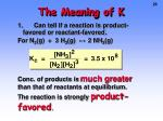 the meaning of k