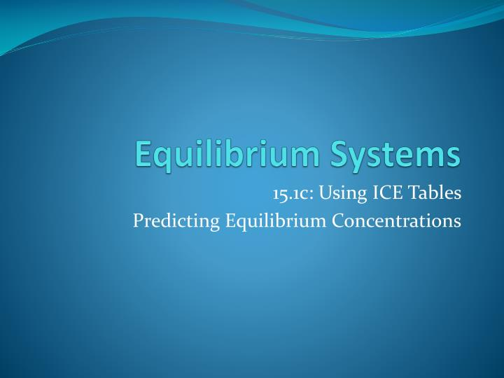 equilibrium systems n.