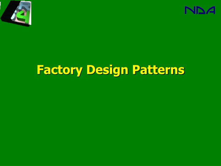 factory design patterns n.