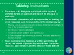 tabletop instructions