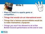 write 3