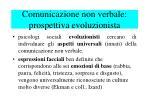 comunicazione non verbale prospettiva evoluzionista