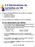 i 3 d clarations de variables en vb