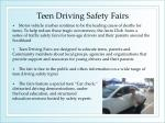 teen driving safety fairs