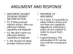 argument and response1