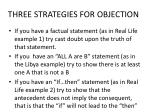 three strategies for objection