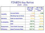 finbin key ratios 2004 20062